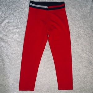NWOT Tommy Hilfiger Red Cropped Leggings
